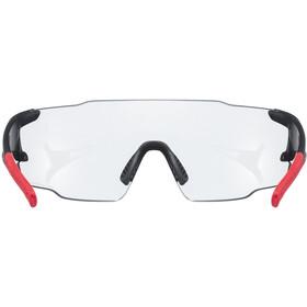 UVEX sportstyle 804 V Glasses black matt/red/smoke